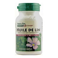 natures plus huile de lin herbal actives 30 cap. Black Bedroom Furniture Sets. Home Design Ideas